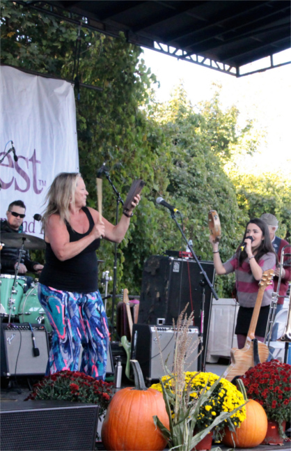 Singer and band at the OysterFest in a prior year