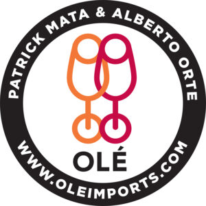Ole Imports logo with two wineglasses
